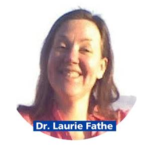 Picture of smiling, brown-haired woman with name Laurie Fathe